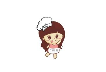 Cartoon kitchen girl vector free download