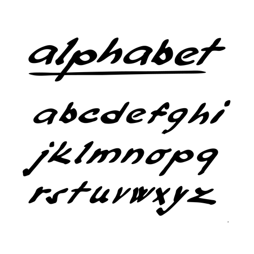 Hand drawing alphabet fonts vector 05 free download