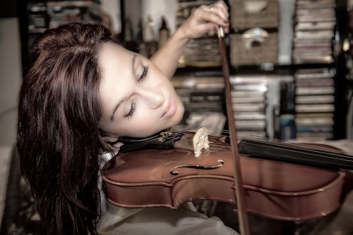 People playing the violin Stock Photo 05 free download