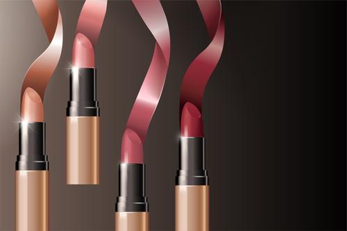 lipstick background design vector