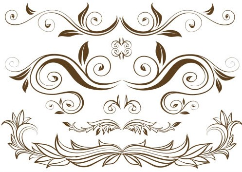 floral design branches vector