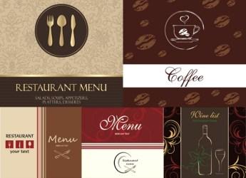 menu food background western restaurant vector illustration eps format