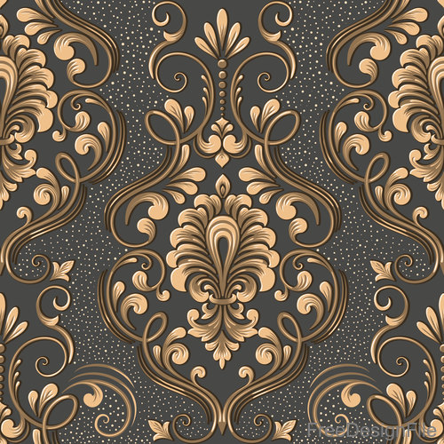 Vector damask seamless pattern element 06 free download