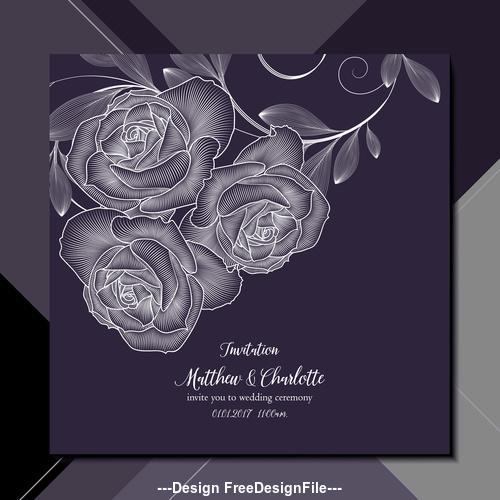 black background flower wedding