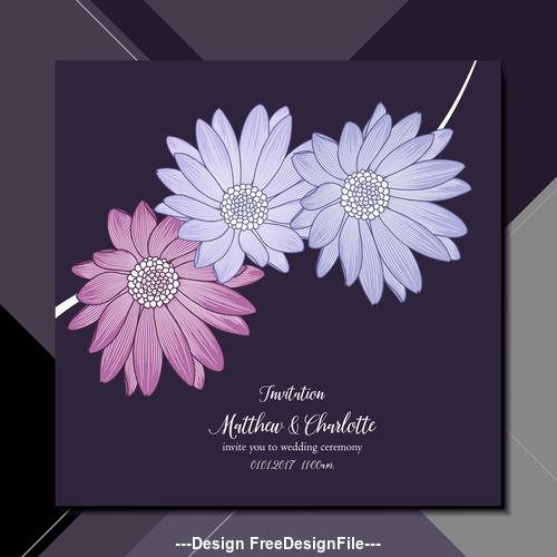 flower background wedding invitation