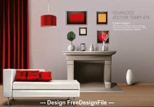 background interior corner vector living vectors template eps format freedesignfile