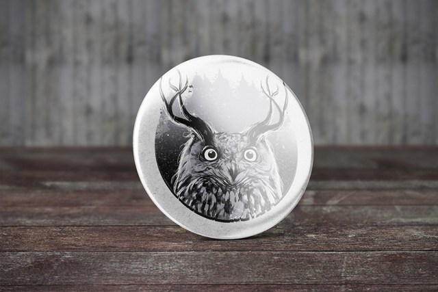 Free Badge Button Mockup