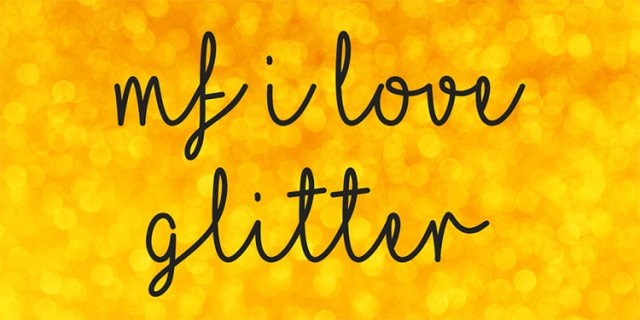 I-love-glitter-free-font