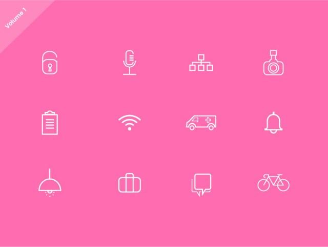 free-website-line-icons-set