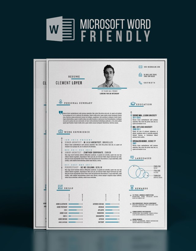precise-blue-word-resume-template