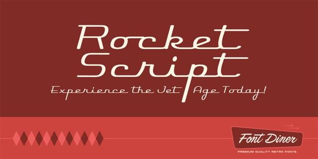rocket-script-free-font