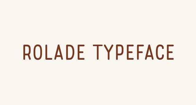 rolade-free-font