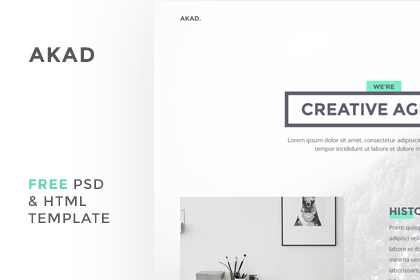 Akad - Free PSD & HTML Template