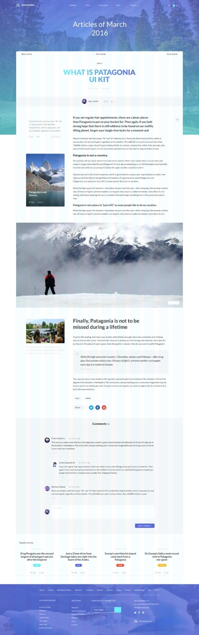 patagonia-psd-template