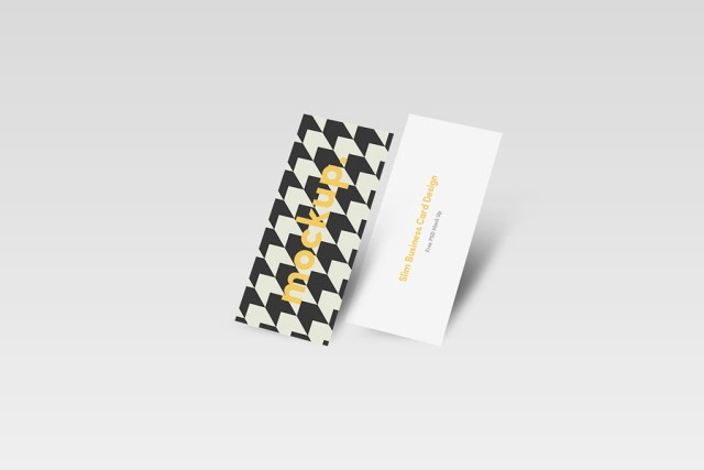 Free Slim Business Card Mockups