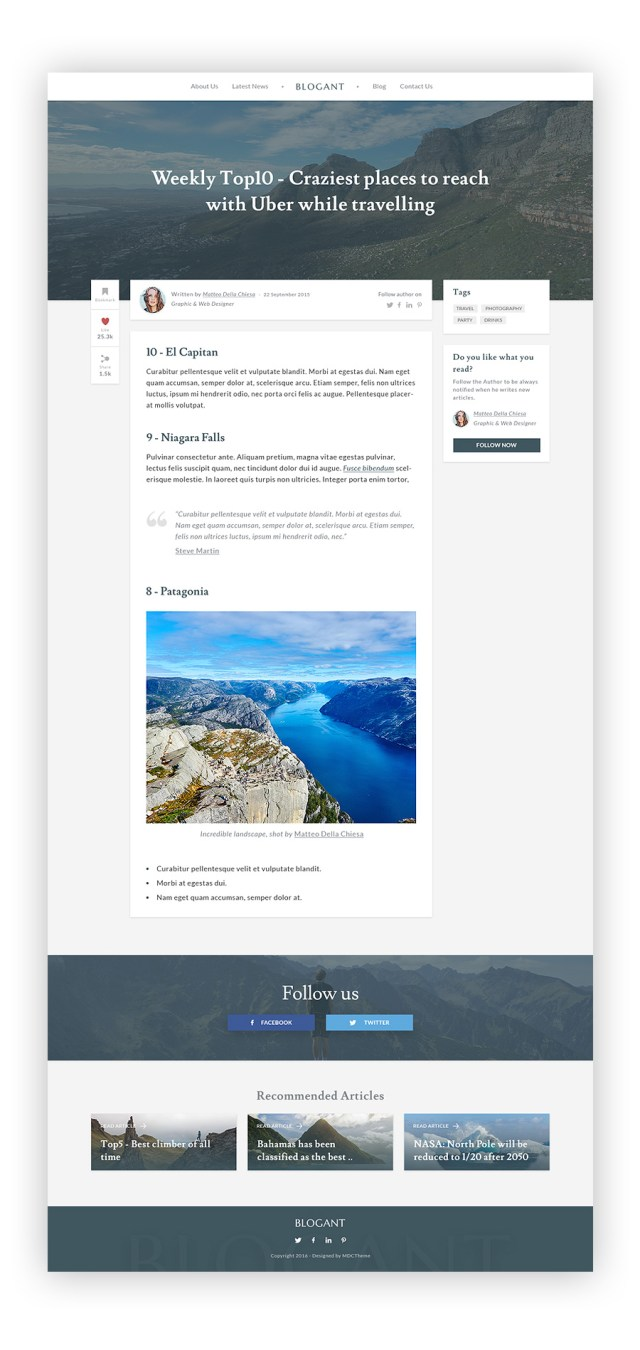 Blogant UI Kit - Free Sample