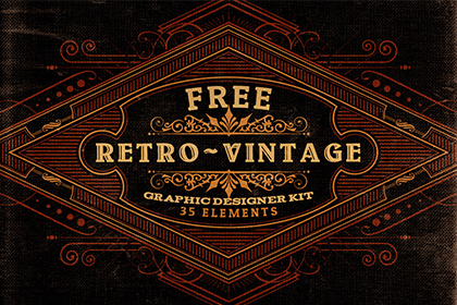 Free Retro Vintage Graphic Designer Kit