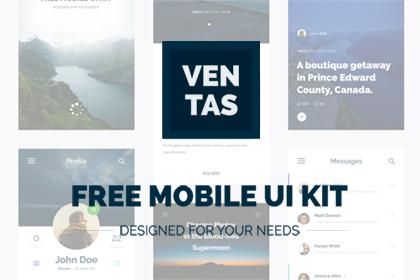 Ventas - Free Mobile UI Kit
