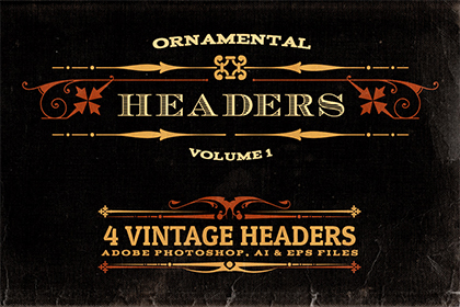 4 Free Ornamental Headers