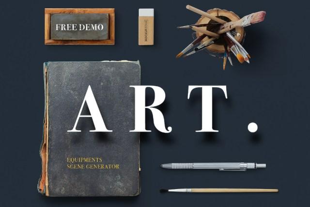 Free Demo Of Art Equipments Scene Generator