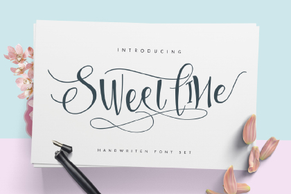 Sweetline Script Free Demo