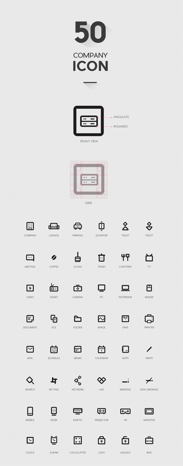 50 Company Icon Set