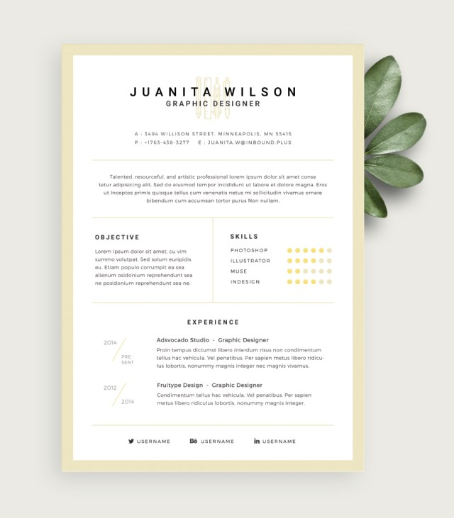 clean resume template - Free Design Resume Templates