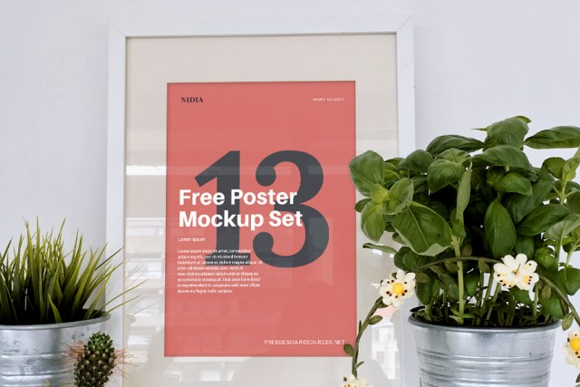 13 Free Poster Mockups