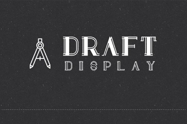 Draft Display Font