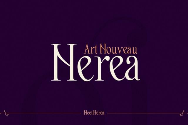 Nerea,   Art Nouveau Typography