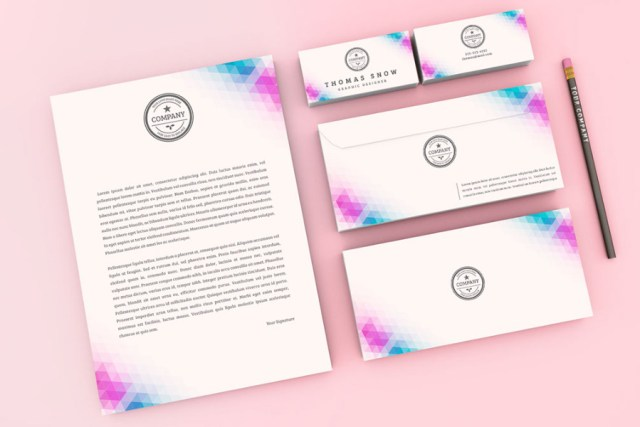 Company Stationery Kit Mockup Free Design Resources