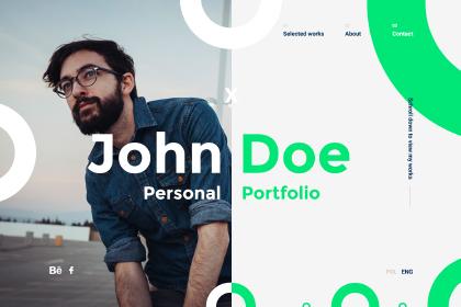 John Doe Portfolio PSD Template