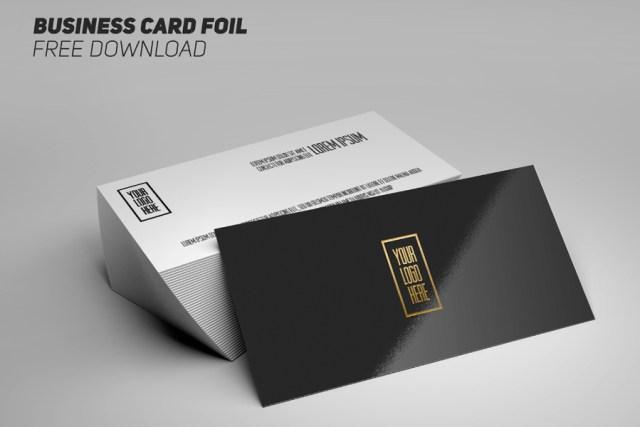 Business Card Foil - Mockup