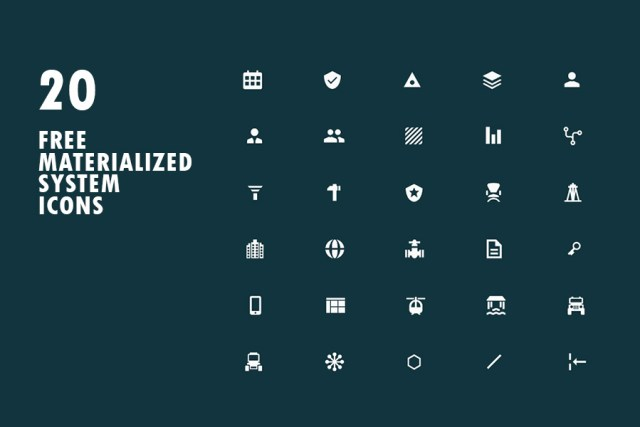 Free Materialized System Icons