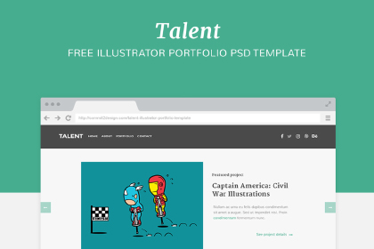 Talent - Free PSD Template