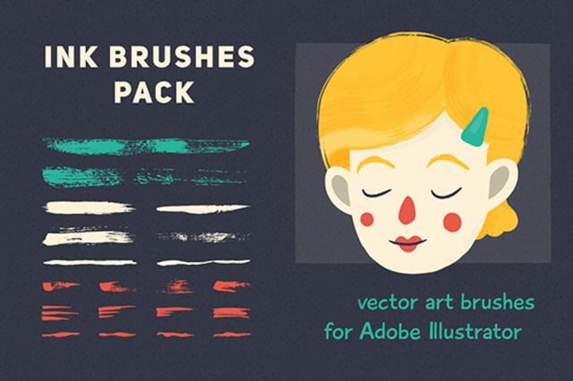 Vector Brush Set for Illustrator - Free Demo
