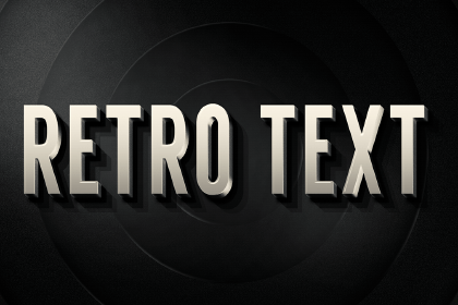 3D Retro PSD Layer Style