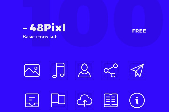 48pxl Free Vector Icon Set