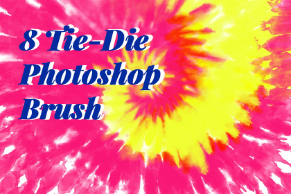 8 Tiedye Free Photoshop Brush