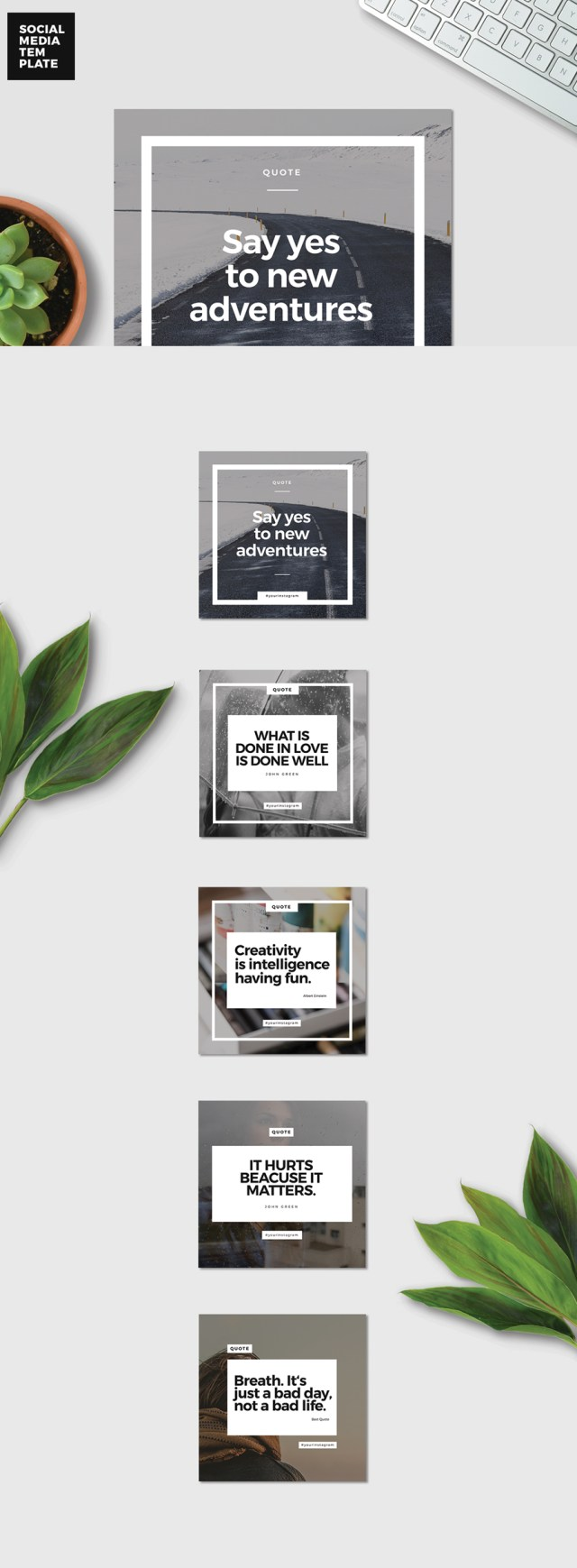 Free 5 Instagram Promotional Templates