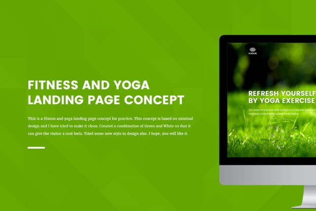 Free Fitness and Yoga Landing Page