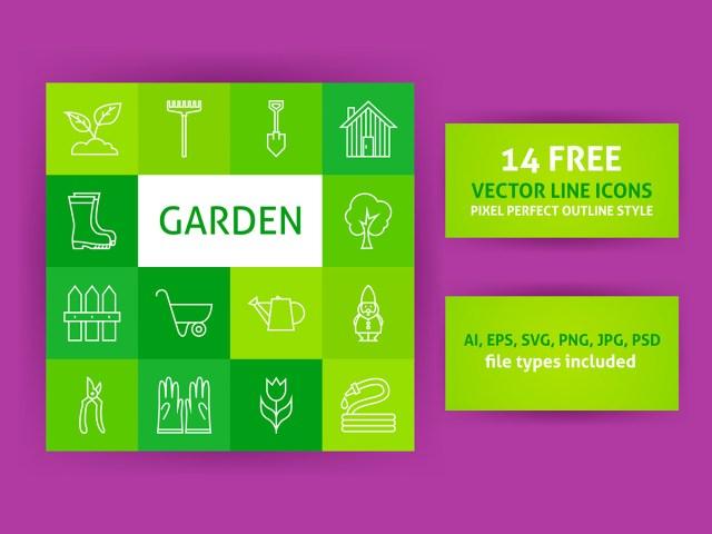 Free Garden Line Art Icons