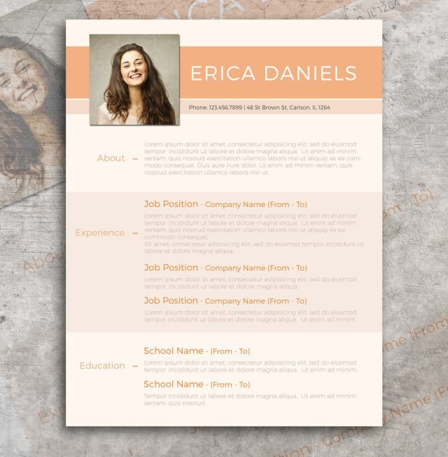 free modern resume template - Free Design Resume Templates