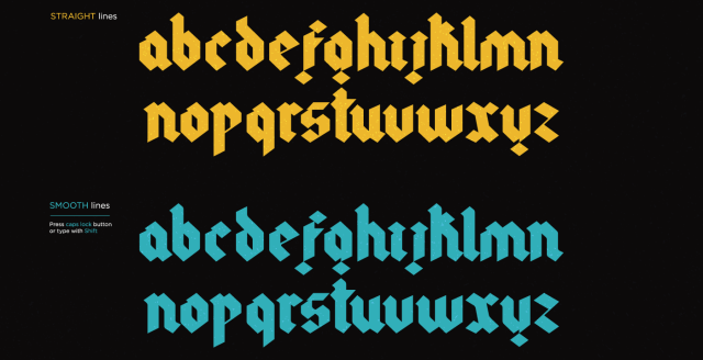 Gothic Modern Free Typeface