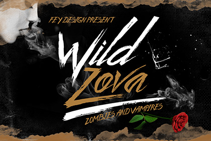 Wild Zofa - Grunge Free Font
