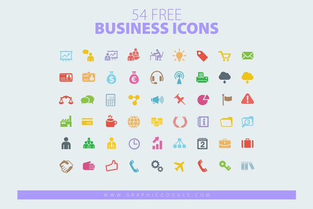 54 Free Vector Business Icons
