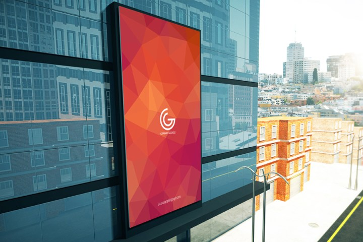 Free Advertisement Building Billboard Mockup