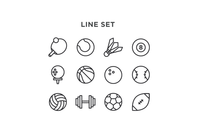 Free Minimal Sport Vector Icons