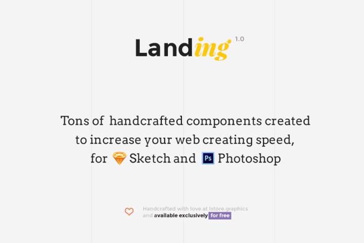 Free UI Kit Landing Page prev01