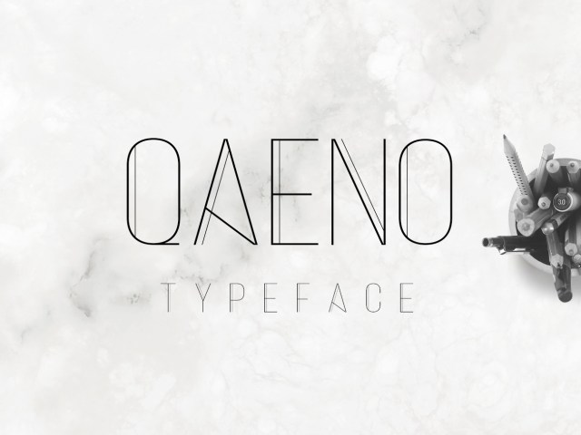 Qaeno Display Free Font